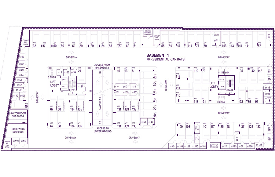 Basement 1 Floorplan