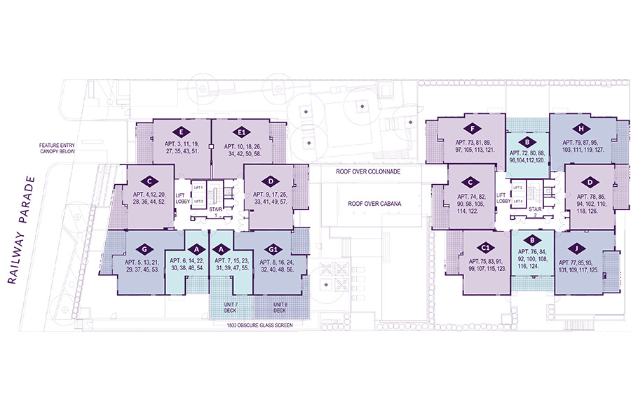 Levels 1 - 7 Floorplan