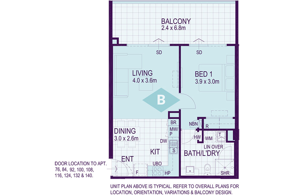 Layout B Floorplan