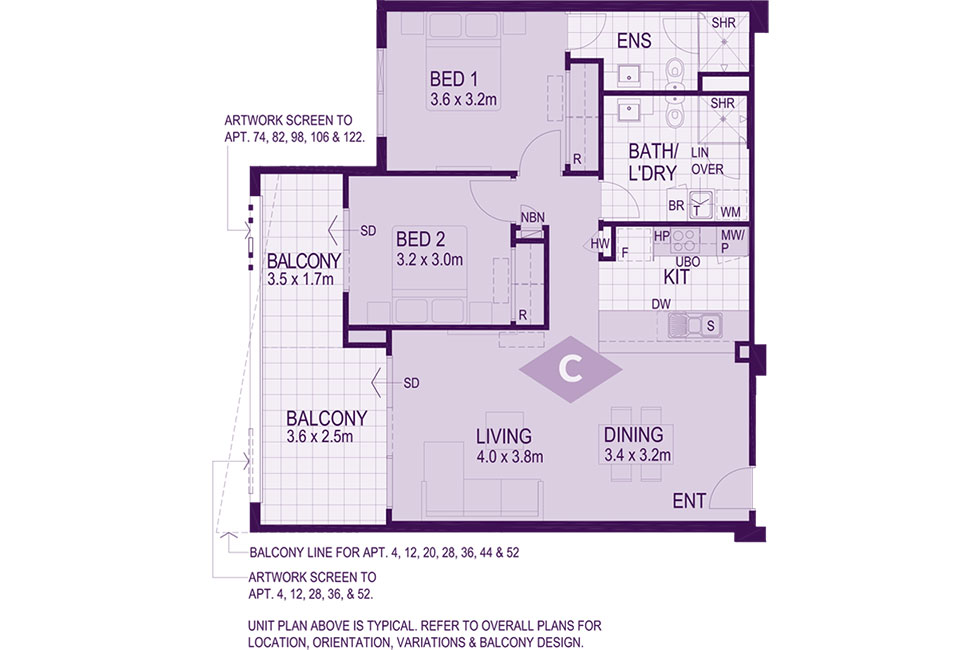 Layout C Floorplan