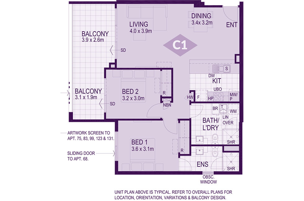 Layout C1 Floorplan