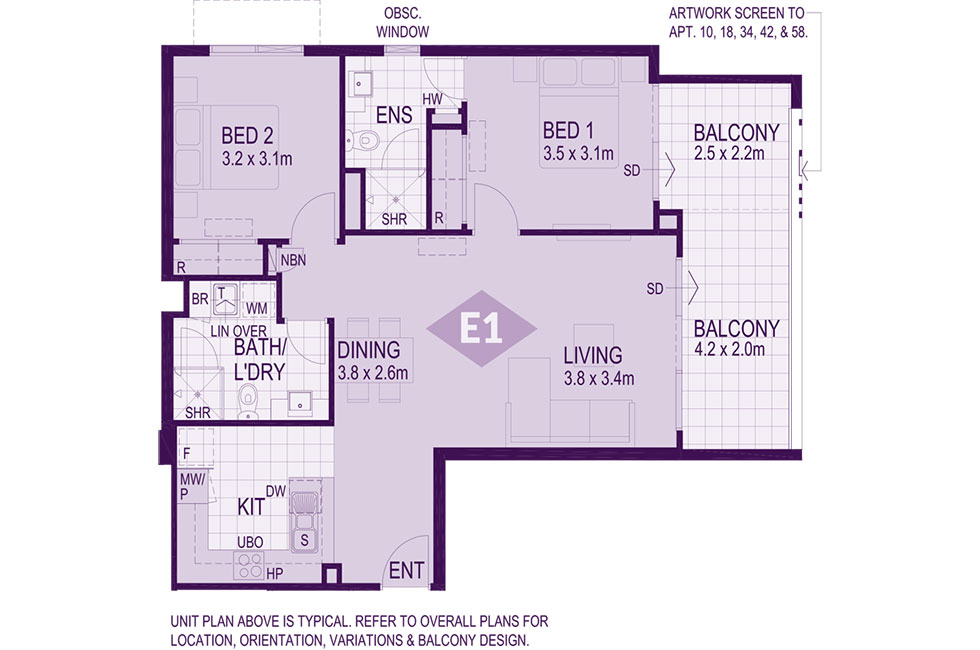 Layout E1 Floorplan