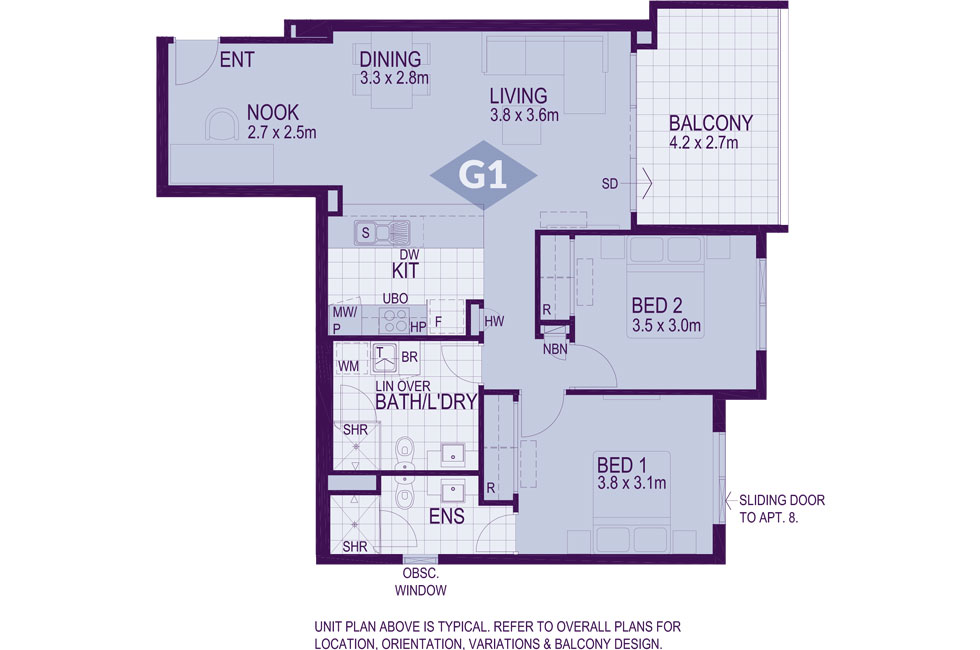 Layout G1 Floorplan
